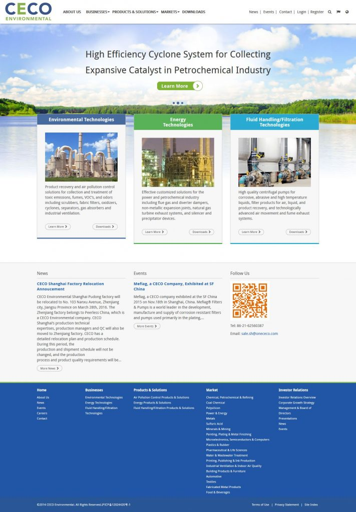 Ceco Environmental - web development WordPress by Julian