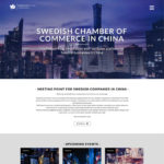 Webdesign for Swedcham, Swedish Chamber of Commerce in China