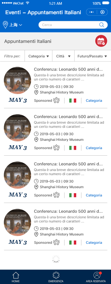 WeChat Mini Program web agency Shanghai, Italian Consulate
