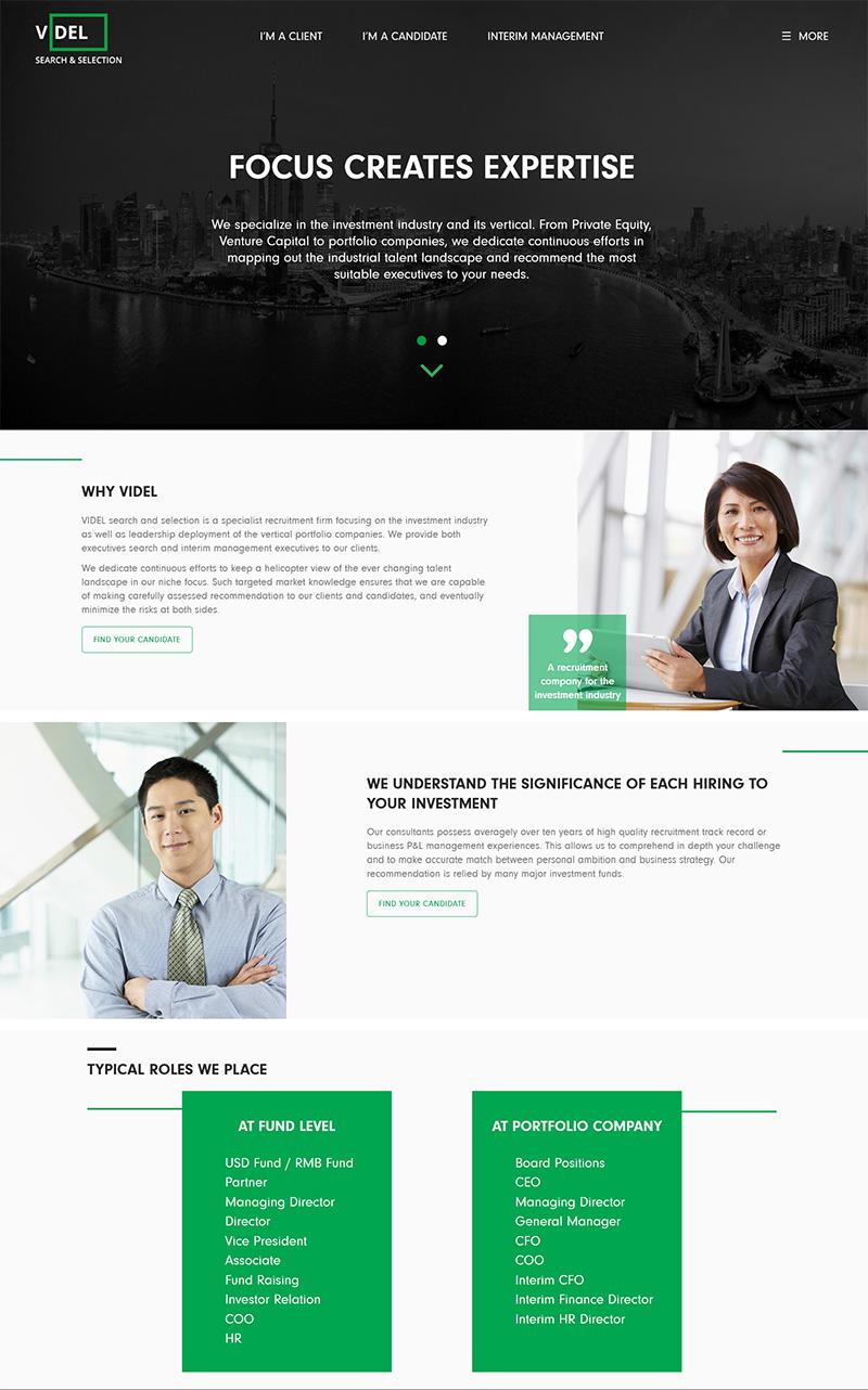 Web design Videl, HR and recruitment | Webbutveckling nya kunder